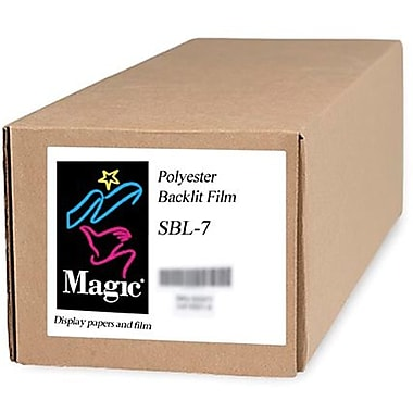 Magiclee/Magic SBL-7 54in. x 100' 7 mil Polyester Matte Backlit Film, Bright White, Roll