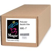 "Magiclee/Magic SBL-7 60"" x 100' 7 mil Polyester Matte Backlit Film, Bright White, Roll"