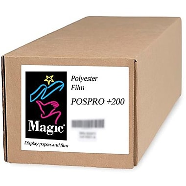 Magiclee/Magic POS PRO+ 200 36in. x 10' 10.4 mil Matte Blockout Film, Bright White, Roll