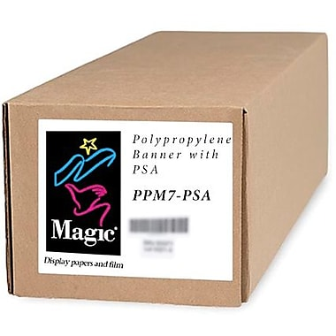 Magiclee/Magic PPM7-PSA 24in. x 10' Coated Matte Pressure Sensitive Banner, Bright White, Roll
