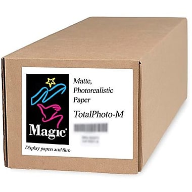 Magiclee/Magic Total Photo M 24in. x 10' Coated Matte Photorealistic Paper, White, Roll