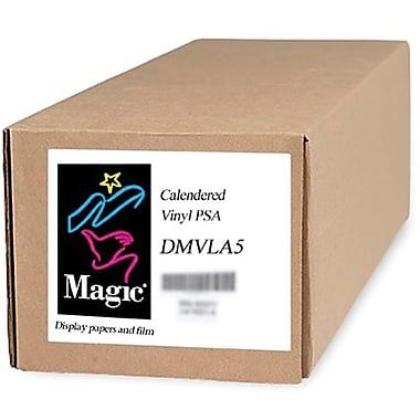 Magiclee/Magic DMVLA5 54in. x 75' Coated Matte Pressure Sensitive Calendered Vinyl, White, Roll