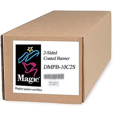 Magiclee/Magic DMPB10-C2S 24in. x 75' 12 mil Polyethylene Matte 2-Side Coated Banner, White, Roll