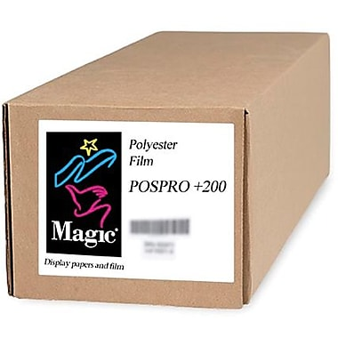 Magiclee/Magic POS PRO+ 200 50in. x 50' 10.4 mil Matte Blockout Film, Bright White, Roll
