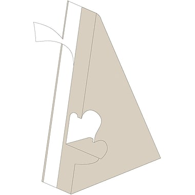 Blanks/USA® 10in. Tall 40 Point ChipBoard Easel, Natural, 10/Pack