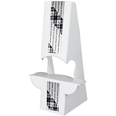 Blanks/USA® 6in. Tall 36 Point SBS Board Easel, White, 10/Pack, Double Wing Type
