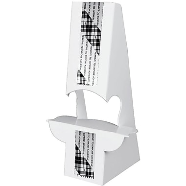 Blanks/USA® 8in. Tall 36 Point SBS Board Easel, White, 10/Pack, Double Wing Type