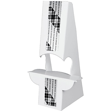 Blanks/USA® 10in. Tall 36 Point SBS Board Easel, White, 10/Pack, Double Wing Type