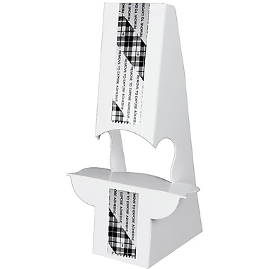 Blanks/USA® 12in. Tall 36 Point SBS Board Easel, White, 10/Pack, Double Wing Type