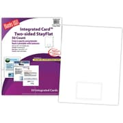 "Blanks/USA® 3 3/8"" x 2 1/8"" 28 lbs. Ledger Integrated Club Card With 1 Card, White, 50/Pack"