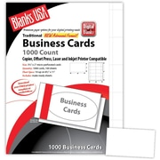 "Blanks/USA® 3 1/2"" x 2"" 80 lbs. Micro-Perforated Business Card, White, 1000/Pack"