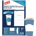 Blanks/USA® 10 1/4in. x 2 5/8in. Digital Coffee Cup Sleeve, White, 100/Pack
