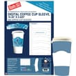 "Blanks/USA® 10 1/4"" x 2 5/8"" Digital Coffee Cup Sleeve, White, 100/Pack"