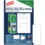"Blanks/USA® 1 11/16"" x 5"" Digital Golf Ball Box, White, 50/Pack"