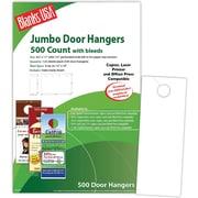 Blanks/USA® 4 1/8 x 11 80 lbs. Digital Gloss Cover Door Hanger, White, 125/Pack