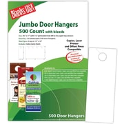 "Blanks/USA® 4 1/8"" x 11"" 80 lbs. Digital Matte Cover Door Hanger, White, 125/Pack"