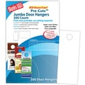 Blanks/USA® 4 1/4in. x 11in. 80 lbs. Digital Smooth Cover Door Hanger, White, 50/Pack, 200 Pieces
