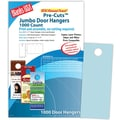 Blanks/USA® 4 1/4in. x 11in. 147 GSM Digital Bristol Cover Door Hangers, 250/Pack