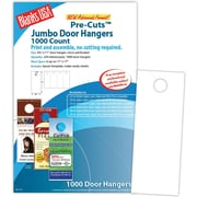 Blanks/USA® 4 1/4 x 11 80 lbs. Digital Gloss Cover Door Hanger, White, 250/Pack, 1000 Pieces