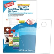 "Blanks/USA® 3.67"" x 8 1/2"" 80 lbs. Digital Gloss Cover Door Hanger, White, 50/Pack"