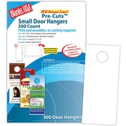 "Blanks/USA® 3.67"" x 8 1/2"" 60 lbs. Digital Index Cover Door Hanger, White, 50/Pack, 300 Pieces"
