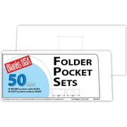 "Blanks/USA® 8 7/8"" x 4"" 10 Pt. Right Folder With Two Pocket, Cast Coat White, 50/Pack"