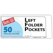 Blanks/USA® 8 7/8 x 4 80 lbs. Gloss Cover Left Folder With One Pocket, White, 50/Pack