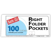Blanks/USA® 8 7/8 x 4 80 lbs. Gloss Cover Right Folder With Two Pocket, White, 100/Pack