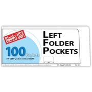 "Blanks/USA® 8 7/8"" x 4"" 12 Pt. Left Folder With One Pocket, Cast Coat White, 250/Pack"