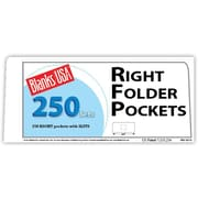 "Blanks/USA® 8 7/8"" x 4"" 12 Pt. Right Folder With One Pocket, Cast Coat White, 250/Pack"