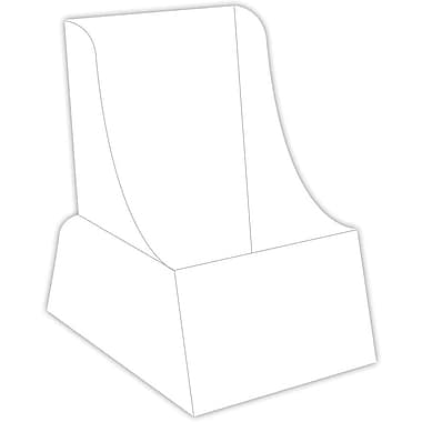 Blanks/USA® 4 1/4in. x 8 1/2in. 36 Point SBS Board Literature Holder, White, 10/Pack