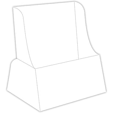 Blanks/USA® 5 1/2in. x 8 1/2in. 36 Point SBS Board Literature Holder, White, 10/Pack