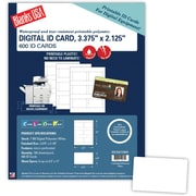 "Blanks/USA® 3 3/8"" x 2 1/8"" 7 mil Digital Polyester ID Card, White, 600/Pack"