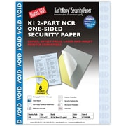 "Blanks/USA® Kan't Kopy® 8 1/2"" x 11"" 20 lbs. 2 Part K1 Security Paper, Blue, 250/Pack"