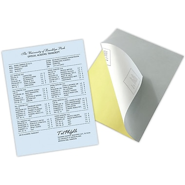 Blanks/USA® Kan't Kopy® 8 1/2in. x 11in. 20 lbs. K1 Carbonless Security Paper, Blue, 2500/Case