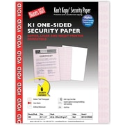 "Blanks/USA® Kan't Kopy® 8 1/2"" x 11"" 60 lbs. K1 Security Paper, Void Red, 100/Pack"