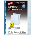 Blanks/USA® Kan't Kopy® 8 1/2in. x 11in. 60 lbs. K1 Security Paper, Copy Blue, 250/Pack