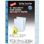 Blanks/USA® Kan't Kopy® 8 1/2 x 11 60 lbs. K1 Security Paper, Copy Blue, 250/Pack