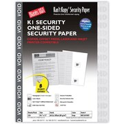 "Blanks/USA® Kan't Kopy® 8 1/2"" x 11"" 60 lbs. K1 Features Box Security Paper, Void Gray, 250/Pack"