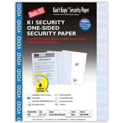 "Blanks/USA® Kan't Kopy® 8 1/2"" x 11"" 60 lbs. K1 8 Features Security Paper, Void Blue, 500/Pack"