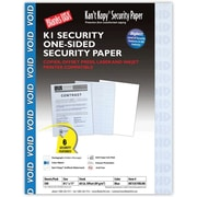 "Blanks/USA® Kan't Kopy® 8 1/2"" x 11"" 60 lbs. K1 6 Features Security Paper, Void Blue, 500/Pack"