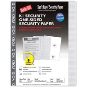 "Blanks/USA® Kan't Kopy® 8 1/2"" x 11"" 60 lbs. K1 Features Box Security Paper, Void Gray, 500/Pack"