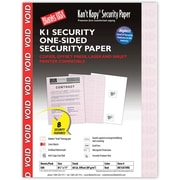 "Blanks/USA® Kan't Kopy® 8 1/2"" x 11"" 60 lbs. K1 Security Paper, Void Red, 500/Pack"
