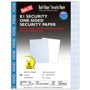 Blanks/USA® Kan't Kopy® 8 1/2 x 11 60 lbs. K1 Security Paper, Void Blue, 250/Pack