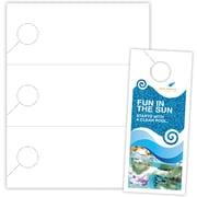 """Blanks/USA® 3.67"""" x 8 1/2"""" 110 lbs. Digital Cover Door Hanger, White, 100/Pack"""