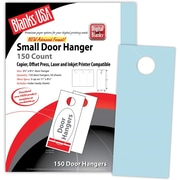 "Blanks/USA® 3.67"" x 8 1/2"" 147 GSM Digital Bristol Cover Door Hangers, 50/Pack"