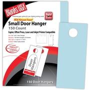 "Blanks/USA® 3.67"" x 8 1/2"" 67 lbs. Digital Bristol Cover Door Hanger, Blue, 50/Pack"