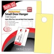 Blanks/USA® 3.67in. x 8 1/2in. 67 lbs. Digital Bristol Cover Door Hanger, Canary, 50/Pack