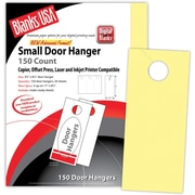 "Blanks/USA® 3.67"" x 8 1/2"" 67 lbs. Digital Bristol Cover Door Hanger, Canary, 50/Pack"