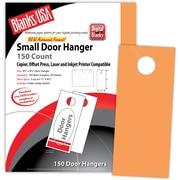 "Blanks/USA® 3.67"" x 8 1/2"" 65 lbs. Digital Timberline Cover Door Hanger, Hunter's Orange, 50/Pack"